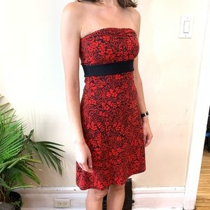 Dresses & Skirts - Red and black strapless size xs
